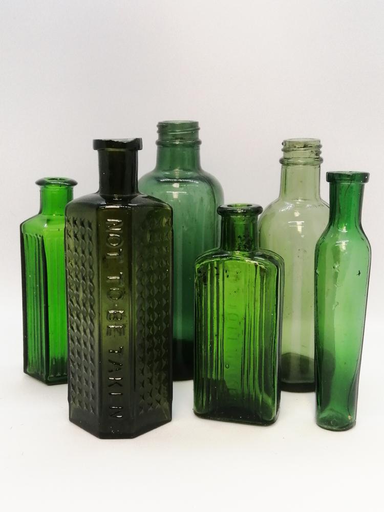 Green Medicine Bottles