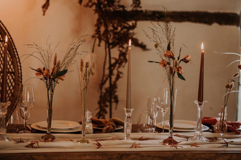Vintge Glass Candlesticks