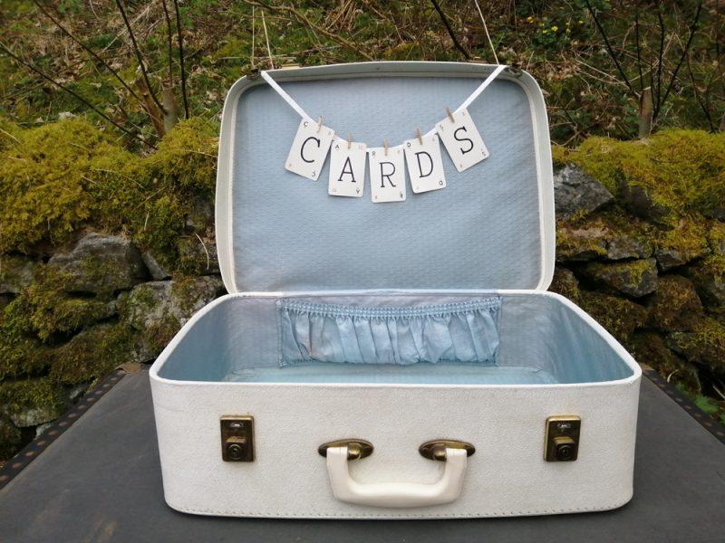 Cream suitcase