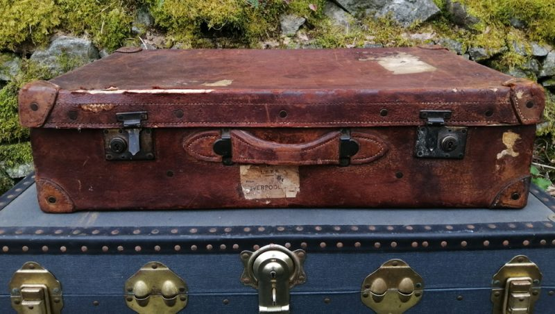 Large Leather Suitcase