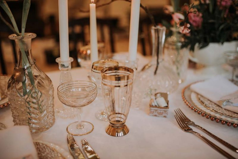 Gold water glass