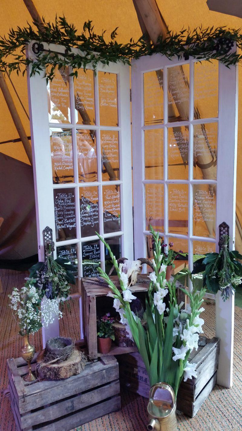 Table Plan Doors