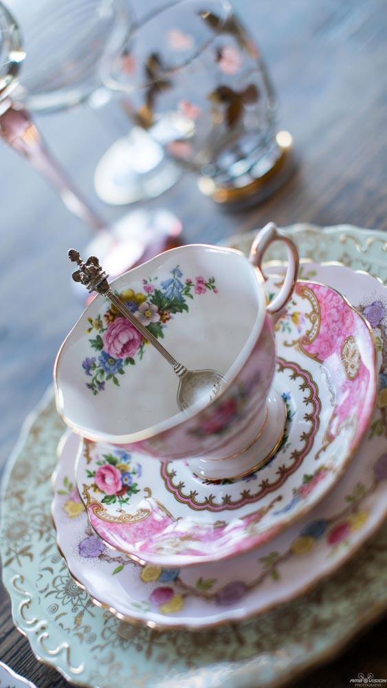 Vintage Tea Cup & Saucer with vintage teaspoon