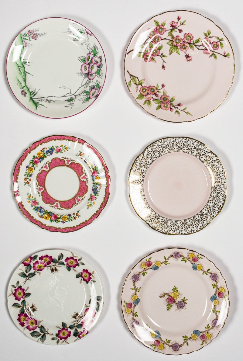 Pink Tea Plates