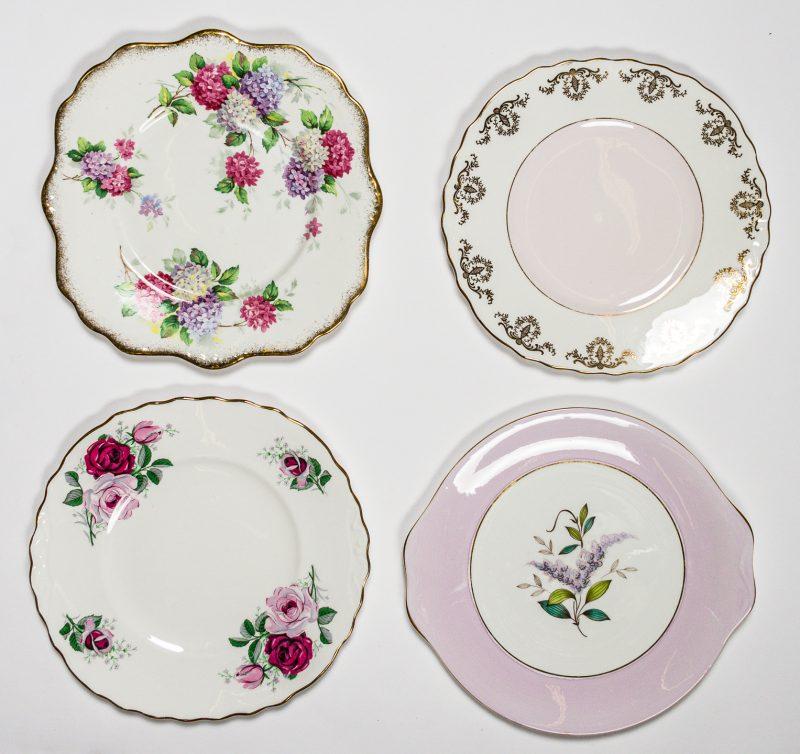 Lilac Cake Plates