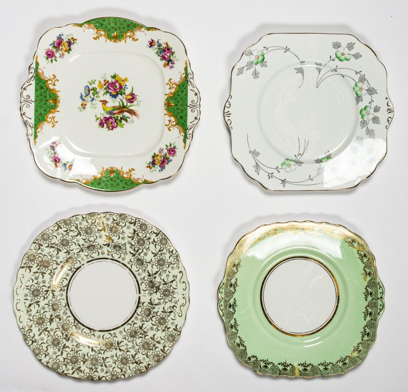 Green Cake Plates