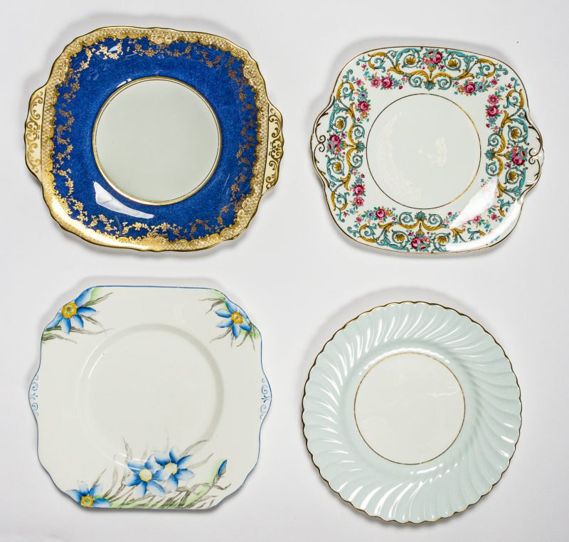 Blue Cake Plates